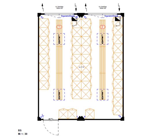 Containeranlage|L×B×H: 6.055×4.876×2.890 mm